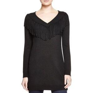 Ella Moss Cori Fringe Sweater Black size XS